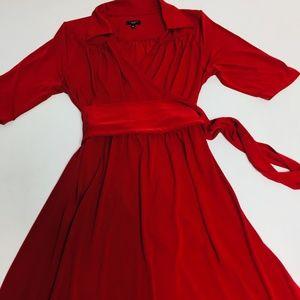 TALBOTS Dress Sz 12P Womens Wrap Long Holiday